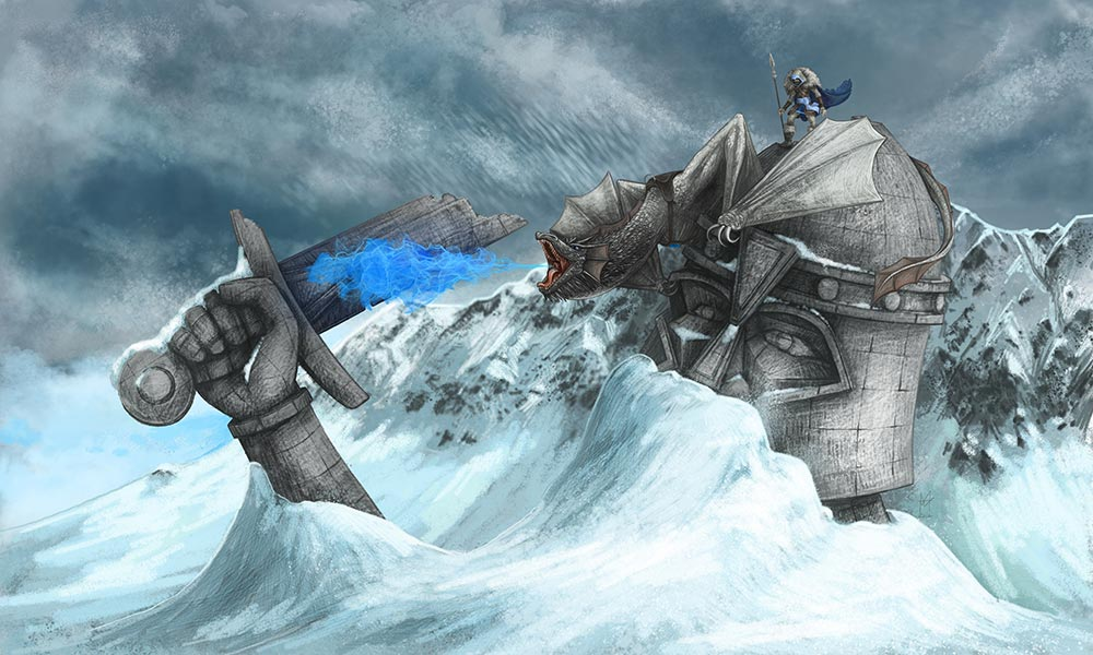 Ice Dragon - martin beckett art