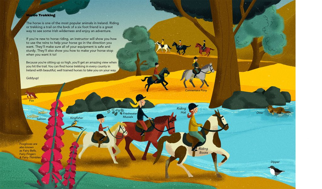 Horse Trekking Illustrated By Jennifer Farley From The Book Island Of Adventures