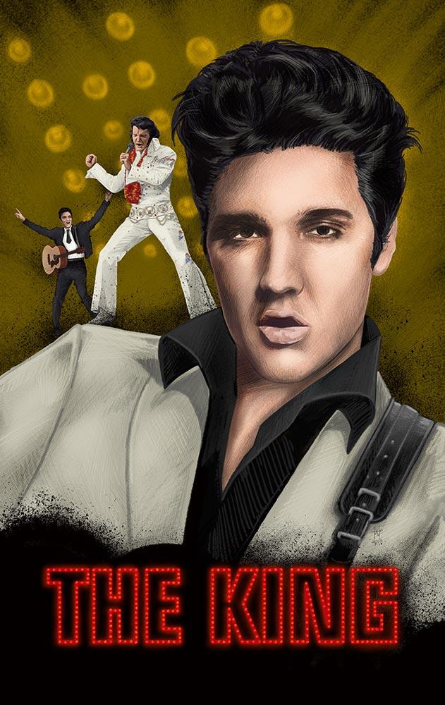 The King - Elvis - martin beckett art