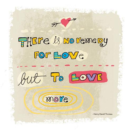 Lettering - Thoreau quote