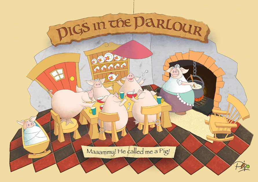 Pigs in the Parlour - Poster