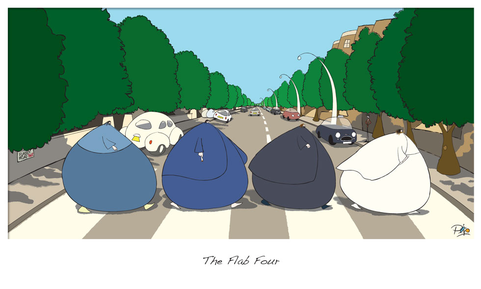 The Flab Four - P. Elliott