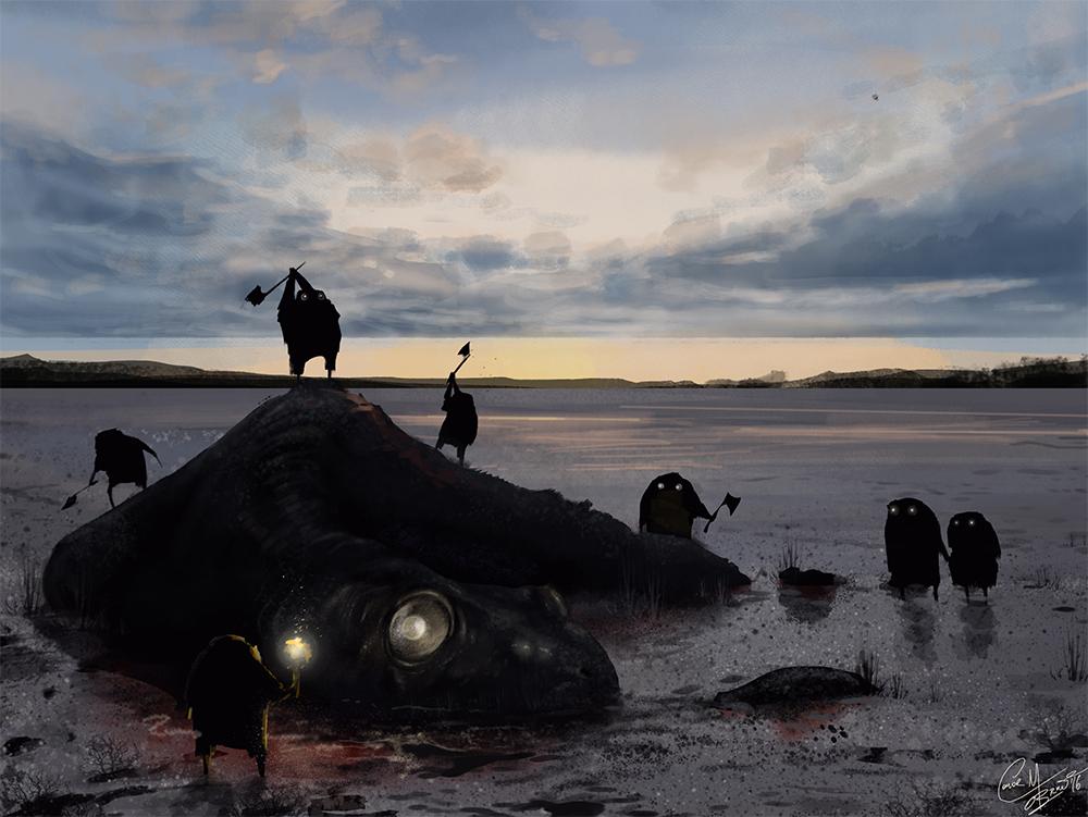 At Dark in the Bay