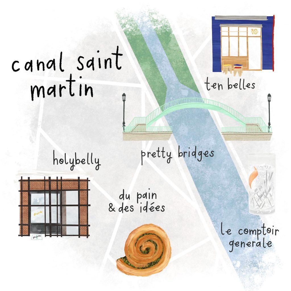 Canal Saint Martin Map