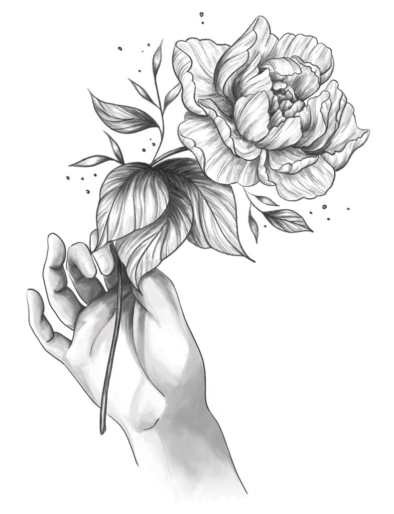 hand flower - Audrey Dowling