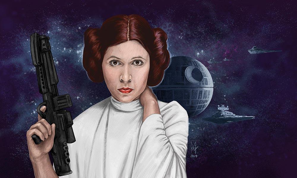 Princess Leia - martin beckett art