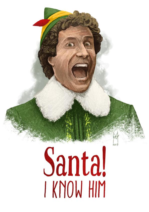 Santa I know him - martin beckett art