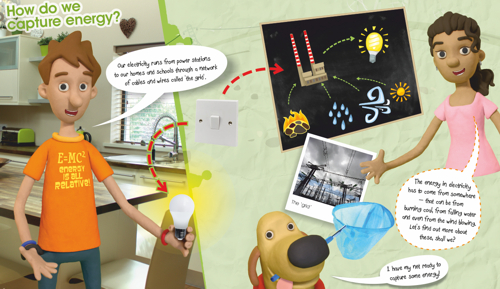 Science Apprentice Energy & Rescources double page spread - Martin Beckett onetreestudio