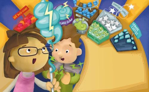 childrens book artwork - daisy & dean go to the moon - Martin Beckett