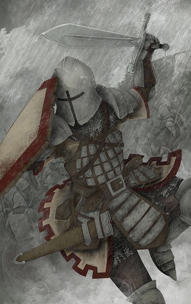 the knight attack - martin beckett art