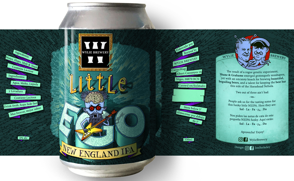 Little Ego IPA label