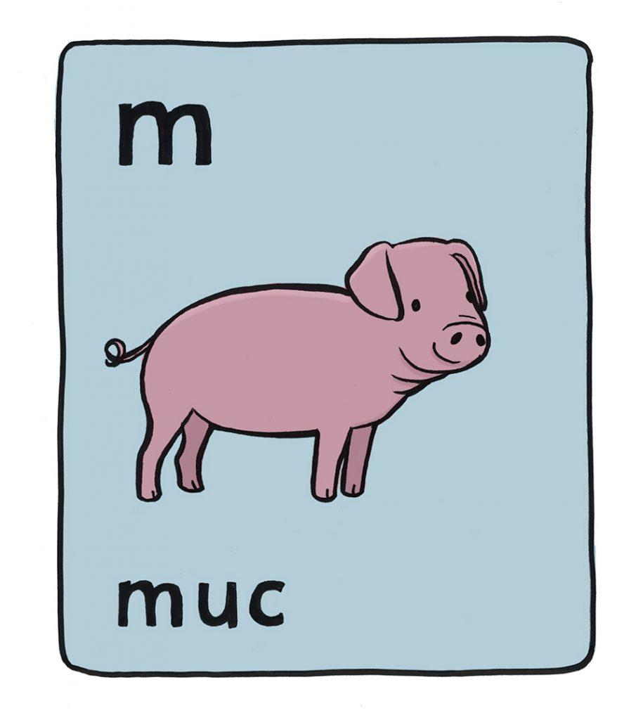 Irish Alphabet: M