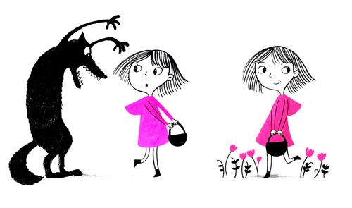 Little Pink Riding Hood.