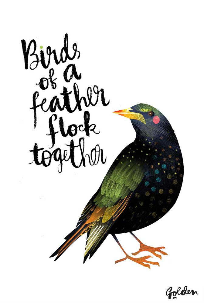 olivia-golden-starling-poster-a4