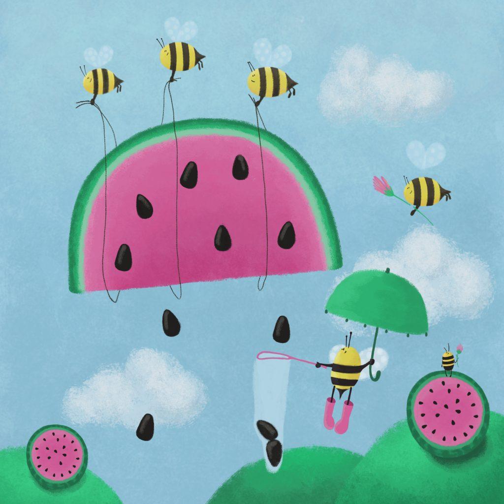 Bees_watermelon