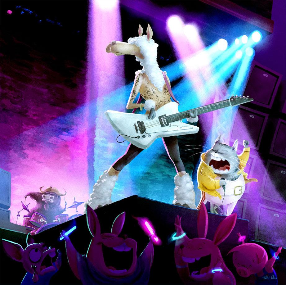 8-Llama-Rock