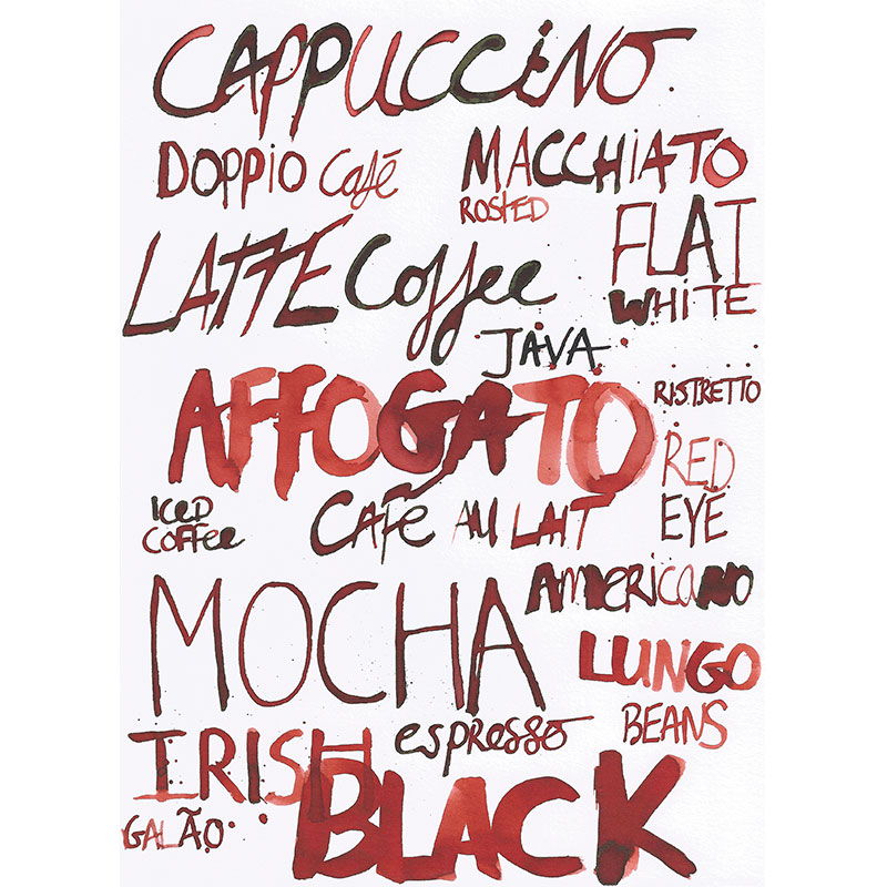 Eva Kelly Lettering Coffee Watercolour