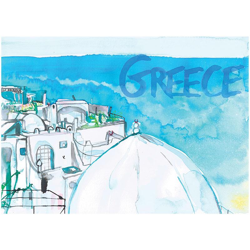 Eva Kelly Watercolour Travel Greece